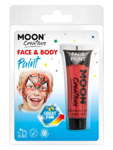 Moon Creations Face & Body Paint, Red