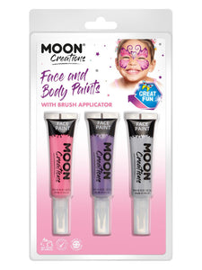 Moon Creations Face & Body Paints and Brush,
