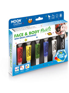 Moon Creations Face & Body Paints, Assorted