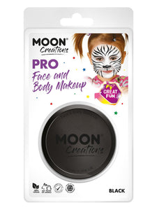 Moon Creations Pro Face Paint Cake Pot, Black