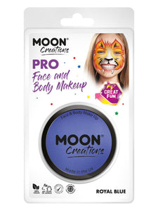 Moon Creations Pro Face Paint Cake Pot, Royal Blue
