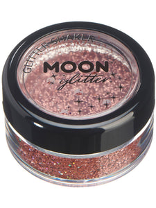 Moon Glitter Holographic Glitter Shakers, Rose Gol