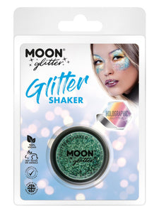 Moon Glitter Holographic Glitter Shakers, Green
