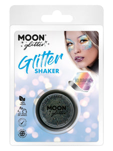 Moon Glitter Holographic Glitter Shakers, Black