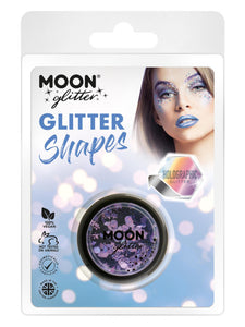 Moon Glitter Holographic Glitter Shapes, Purple