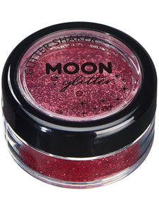 Moon Glitter Classic Fine Glitter Shakers, Red