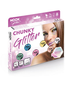 Moon Glitter Iridescent Chunky Glitter, Assorted