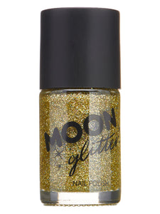 Moon Glitter Holographic Nail Polish, Gold