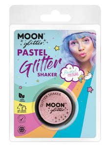 Moon Glitter Pastel Glitter Shakers, Baby Pink