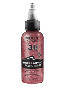 Moon Glitter Holographic Glitter Fabric Paint, Pin