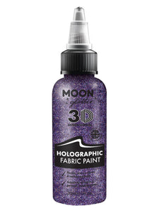 Moon Glitter Holographic Glitter Fabric Paint, Pur