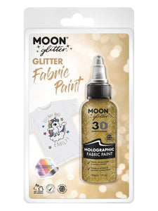 Moon Glitter Holographic Glitter Fabric Paint, Gol