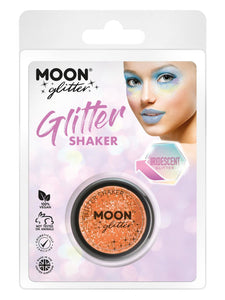 Moon Glitter Iridescent Glitter Shakers, Orange