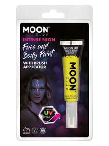 Moon Glow Intense Neon UV Face Paint, Yellow