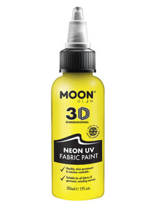 Moon Glow - Neon UV Intense Fabric Paint, Yellow