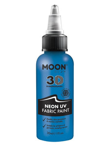 Moon Glow - Neon UV Intense Fabric Paint, Blue