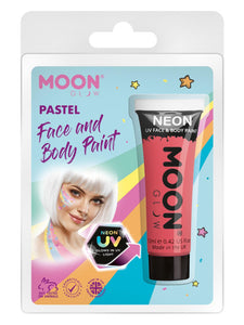 Moon Glow Pastel Neon UV Face Paint, Pastel Coral
