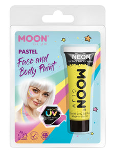 Moon Glow Pastel Neon UV Face Paint, Yellow