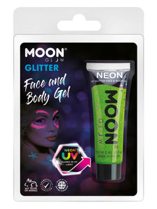 Moon Glow Neon UV Fine Glitter Gel, Green