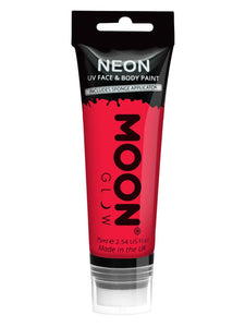 Moon Glow Supersize Intense Neon UV Face Paint, Re