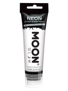 Moon Glow Supersize Intense Neon UV Face Paint, Wh