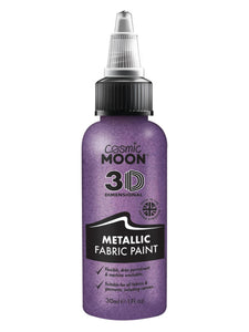 Cosmic Moon Metallic Fabric Paint, Purple
