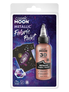 Cosmic Moon Metallic Fabric Paint, Rose Gold