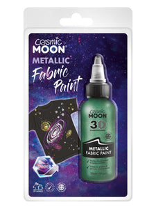 Cosmic Moon Metallic Fabric Paint, Green