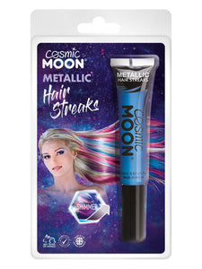 Cosmic Moon Metallic Hair Streaks, Blue