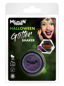 Moon Terror Halloween Glitter Shakers, Purple