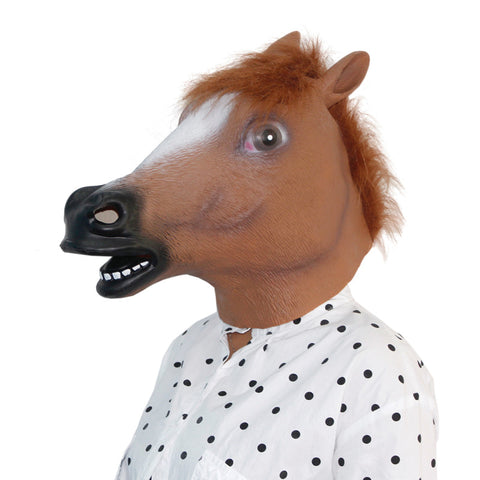 Horses Head Full Face Latex Mask