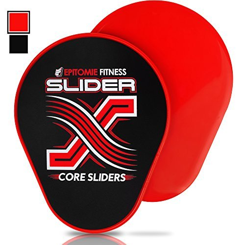 Epitomie Fitness Slider X Gliding Discs - Core Sliders Set For Core Workouts And Sliders Exercise (Exercise Sliders Perfectly Shaped For Hands & Feet) - epitomiefitness