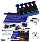 Epitomie Fitness Finger Master: Deluxe Hand Finger Exerciser & Strengthener for Arthritis, Carpal Tunnel, Guitar Playing, Rock Climbing, Sports & Trigger Finger Training - All Five Fingers Adjustable - epitomiefitness