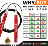 Sonic Boom M2 Speed Jump Rope (Red) - epitomiefitness