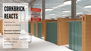 covid-19 products-modular solutions- temporary settlements- diy furniture-cork-corkbrick