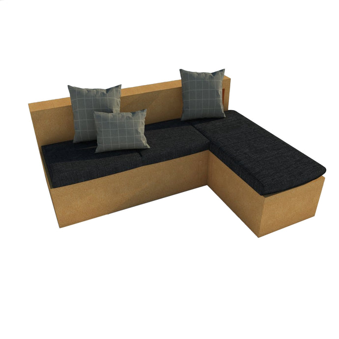 Setting up an L-shaped sofa