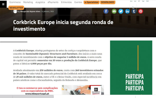 CORKBRICK EUROPE FUNDING  IN ECOMMERCE NEWS