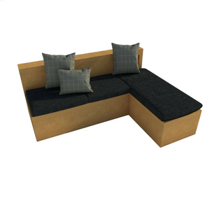 Faro — L-shaped sofa base - Corkbrick.RO
