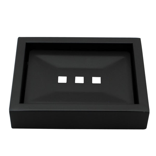 Odda - Matt Black Soap Dish - Luksus Australia - Black Tapware, Gold Tapware, Chrome Tapware, Black Fittings and Fixtures, Black Sinks