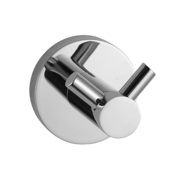 Asker - Chrome Round Pin Lever Stainless Steel Wall Mounted Double Robe Hook