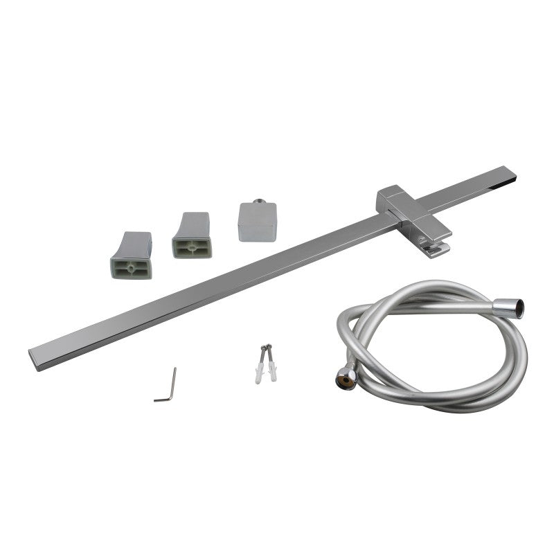 Odda - Chrome Square Rail Column + Hand Held Shower
