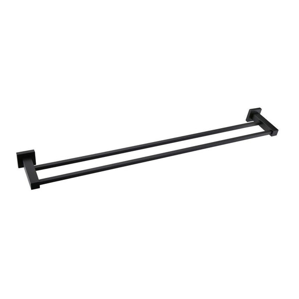 Odda - Matt Black Dual Towel Rail [600mm] - Luksus Australia - Black Tapware, Gold Tapware, Chrome Tapware, Black Fittings and Fixtures, Black Sinks