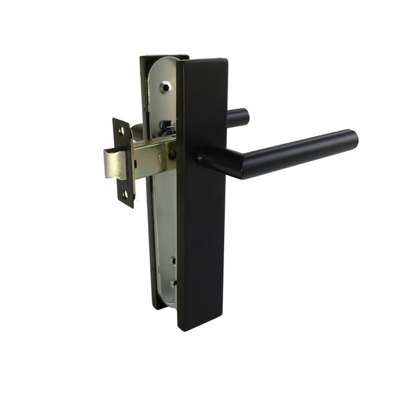 Matt Black Door Handle - Passage Set