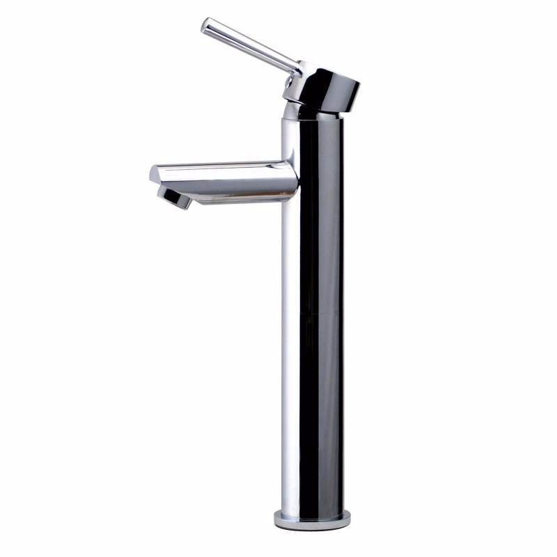 Asker - Round Chrome Tall Basin Mixer - Luksus Australia - Black Tapware, Gold Tapware, Chrome Tapware, Black Fittings and Fixtures, Black Sinks