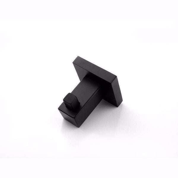 Odda - Matt Black Robe Hook - Luksus Australia - Black Tapware, Gold Tapware, Chrome Tapware, Black Fittings and Fixtures, Black Sinks