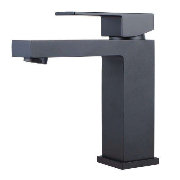 Sola - Matt Black Small Square Mixer Tap - Luksus Australia - Black Tapware, Gold Tapware, Chrome Tapware, Black Fittings and Fixtures, Black Sinks