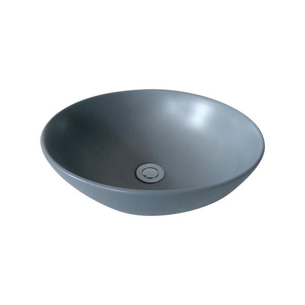 Asker - Above Counter Matt Grey Ceramic Basin [405*405*115mm] - Luksus Australia - Black Tapware, Gold Tapware, Chrome Tapware, Black Fittings and Fixtures, Black Sinks