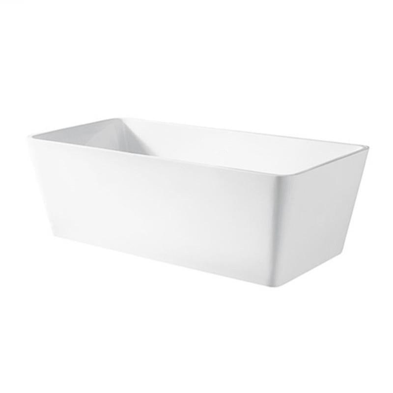 Matt White 1700x730x580mm Back to Wall Multi Fit Freestanding Acrylic Bathtub - NO Overflow - Luksus Australia - Black Tapware, Gold Tapware, Chrome Tapware, Black Fittings and Fixtures, Black Sinks