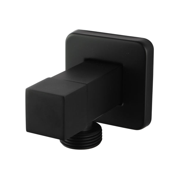 Sola - Matt Black Square Laundry Taps - Luksus Australia - Black Tapware, Gold Tapware, Chrome Tapware, Black Fittings and Fixtures, Black Sinks