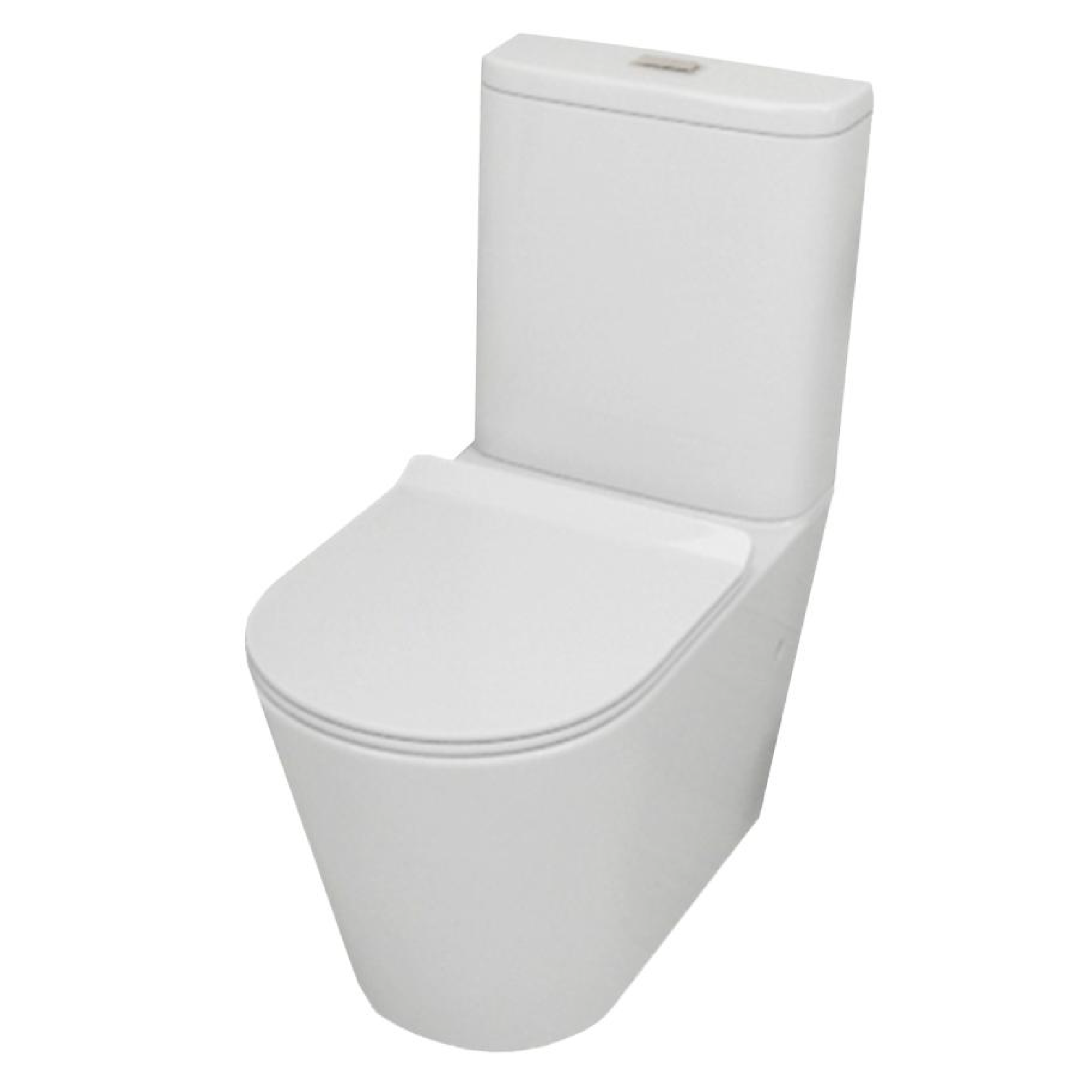 Asker - Rimless Back To Wall White Ceramic Toilet Suite [642x380x850mm]
